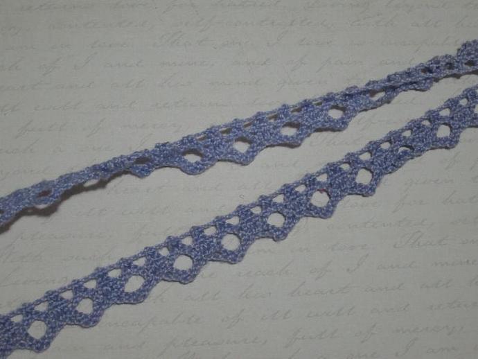 1yd - Lavender Petite Crochet Lace