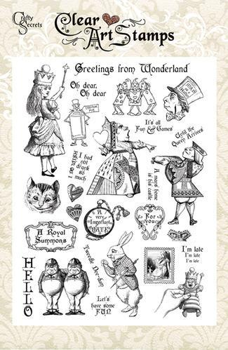 Greetings From Wonderland Large Clear Art Stamp Set