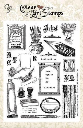 Art Studio Large Clear Art Stamp