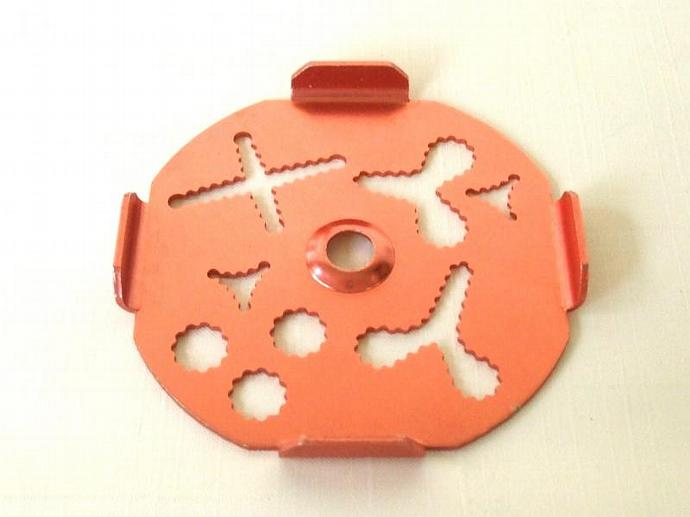Mirro Dial A Cookie Press Disk Replacement Part copper tone aluminum