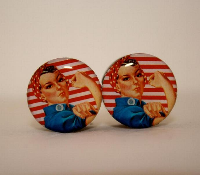 Rosie the Riveter Plugs by Plug-Club