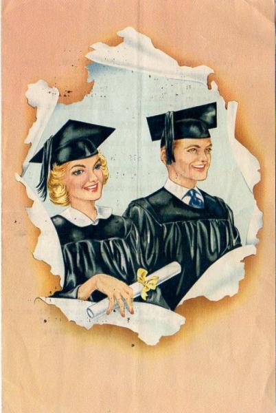 Vintage Graduation Program Gaylord Kansas 1953 Commencement