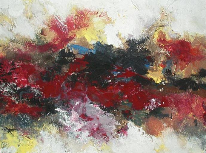 "Volcano 9""x7""xFlat Canvas. Small."
