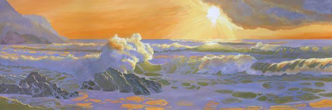 """As The Sun Goes Down"" Canvas Giclee Print by Carol Thompson"