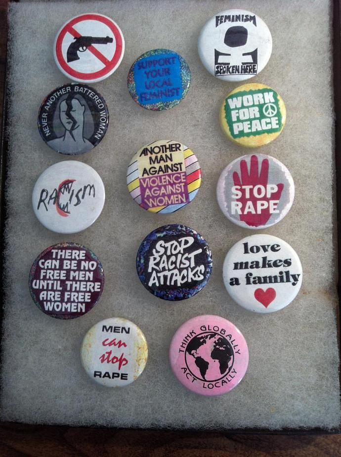 Feminist  Button Collection - 13 buttons