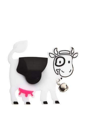 Happy Cow Brooch,Plexiglass Jewelry,Lasercut Acrylic,Gifts Under 25