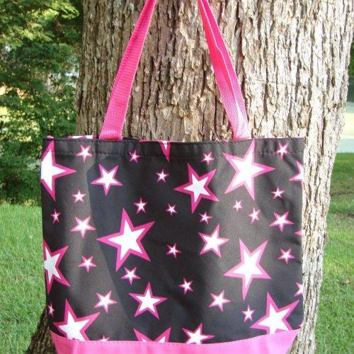 Extra Large Pink Stars tote fully lined with matching coin purse