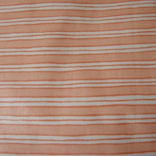 Bloomcraft Fabric 100 percent Cotton with Stain Release Peach Striped