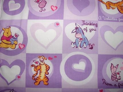 Pooh and Friends Love and Hearts Purple Baby Childrens Todd