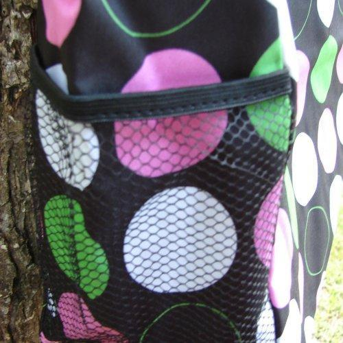 Extra Large Black with Polka Dots Tote bag fully lined with 3 exter......