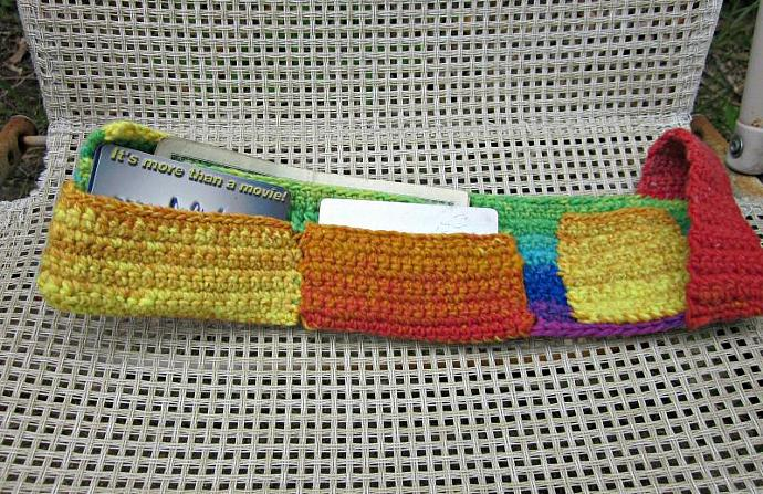 Rainbow Crochet Trifold Wallet