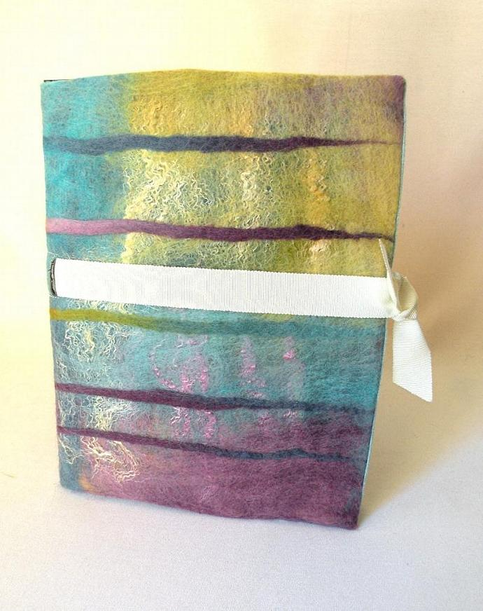 Nuno Felted Journal & Notebook BAMBOO
