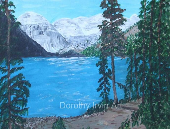 Lake Louise in the Canadian Rockies Art Print
