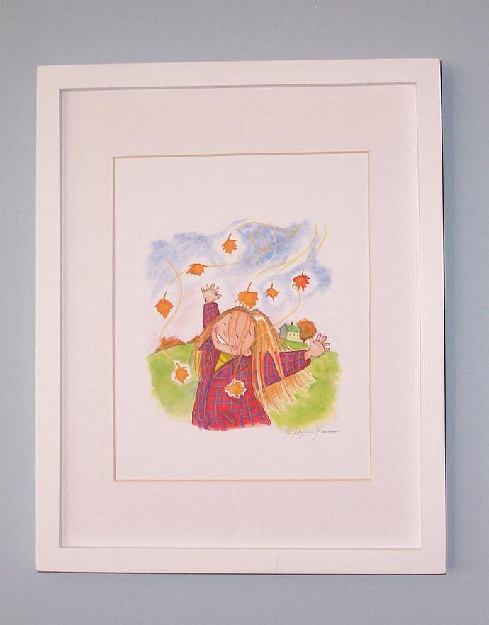 Children's Wall Art Print - Autumn Love - Little Girl's Room decor