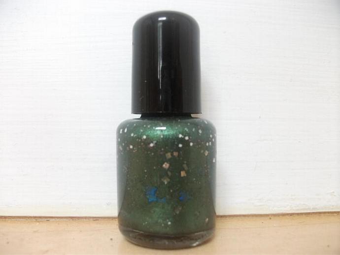 I Envy You Nail Polish- Deep Green with Lots of Glitter