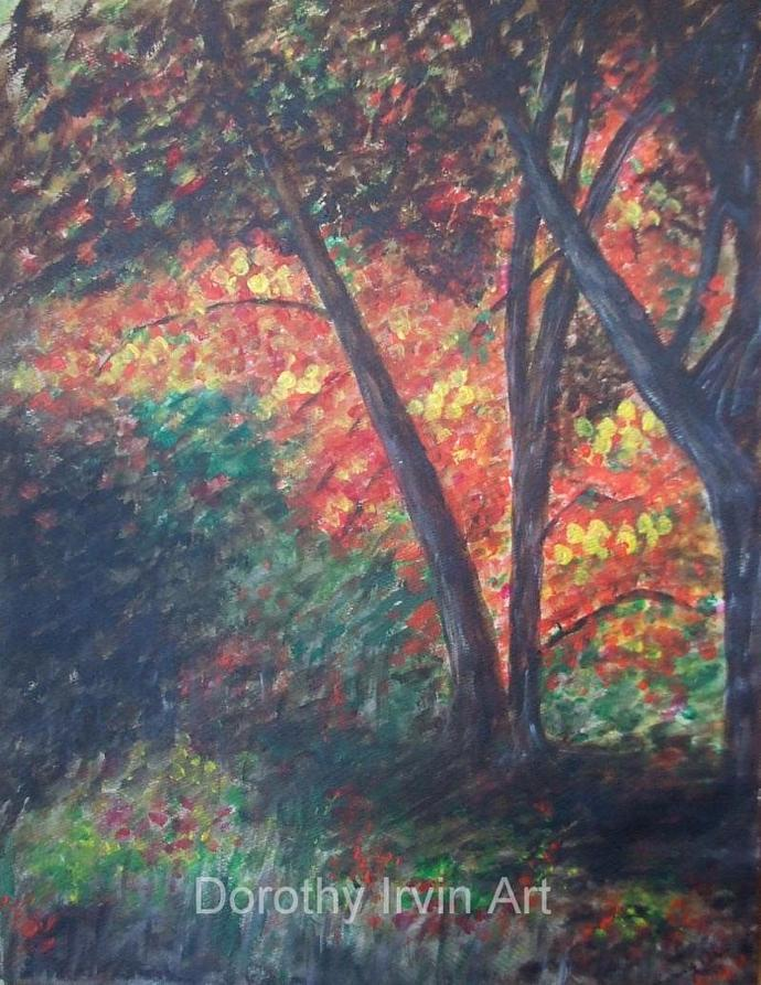 Deep in the Autumn Woods Art Print