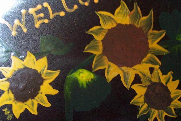 Sunflower Pastry Scraper Decor