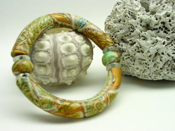 Crackled Watercolour Bamboo Bracelet - Polymer Clay Tutorial - Digital PDF File
