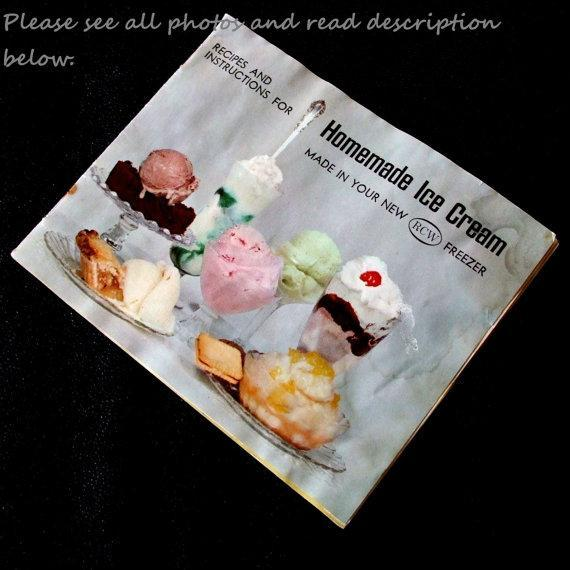 RCW  Ice Cream Maker Instruction Manual Recipes Richmond Cedar Works Sterling