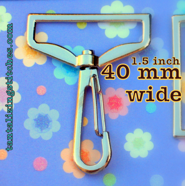 100 Extra Large Nickel Plated Hook for 1.6 inch/40