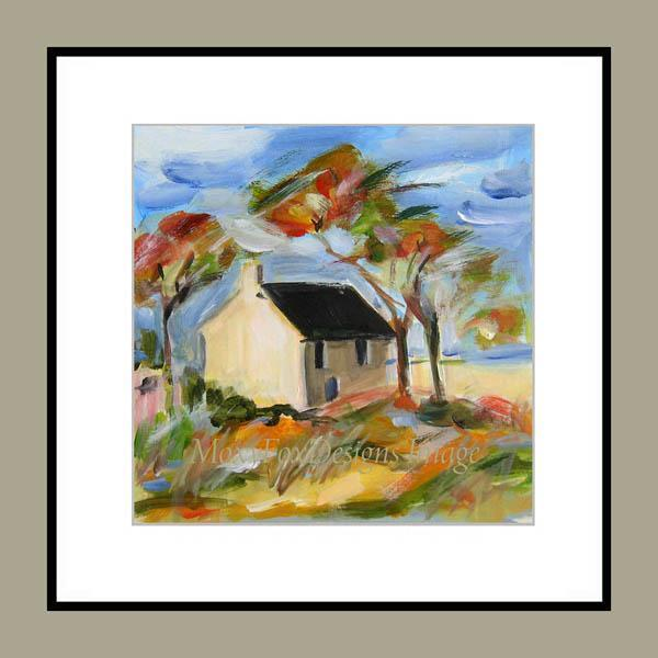 Art -- BEACH COTTAGE -- Limited Edition -- FREE US Shipping