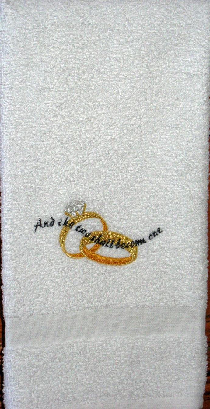 TWO BECOMING ONE hand towel