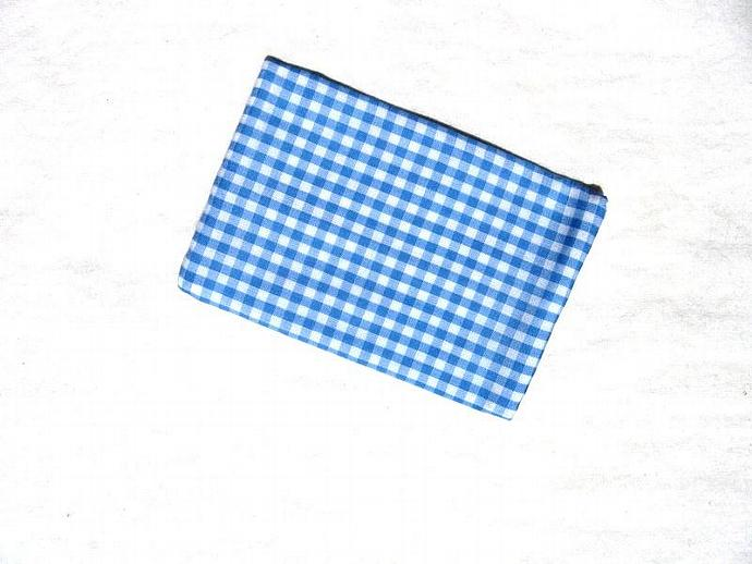 Blue and White Gingham Check Tissue Pack Cover
