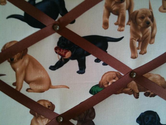 """Pin Boards/Notice Boards/Memo/ """"Cute Labradors"""""""