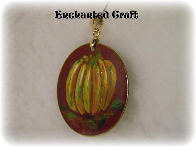 Hand Painted PUMPKIN pendant
