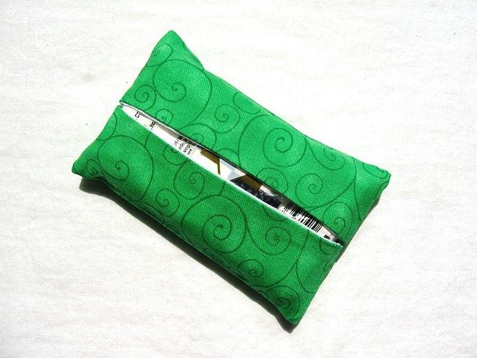 Lime Green Swirls Pocket Tissue Cover