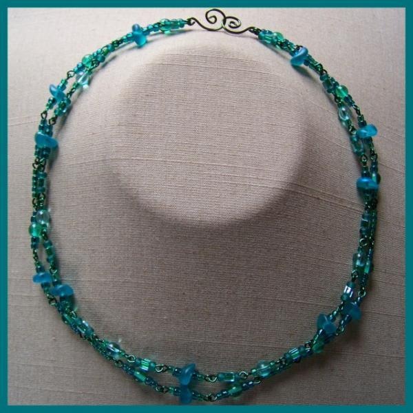 Teal Emerald Double Necklace