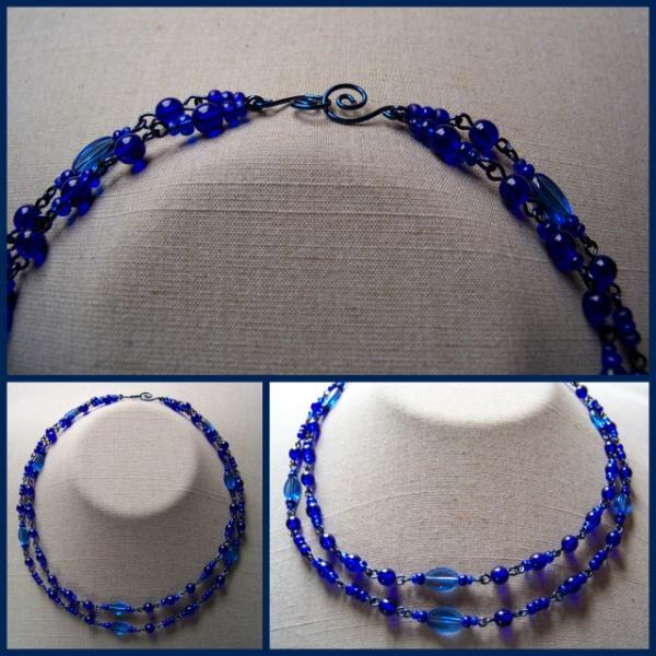 Deep Blue Double Necklace