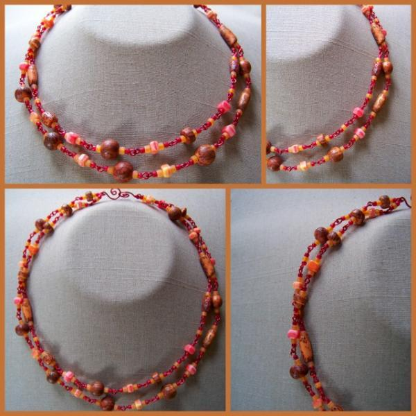 Pumpkin Salwag Double Necklace