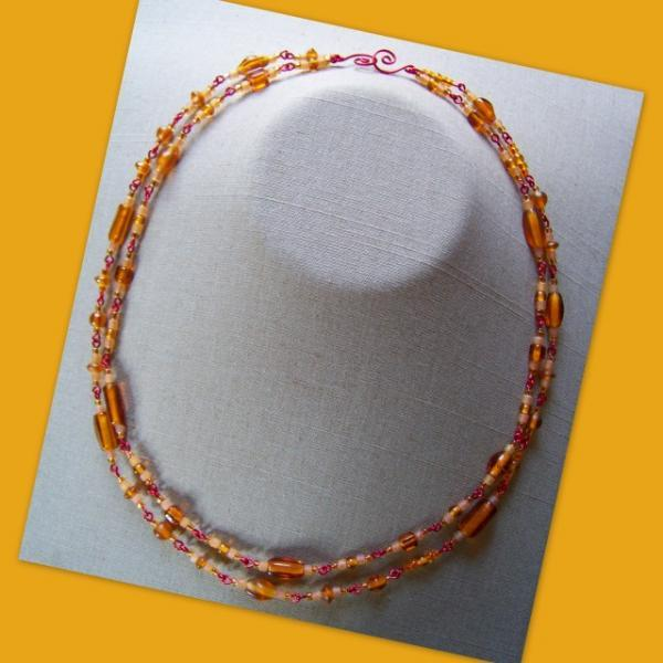 Amber Red Double Necklace