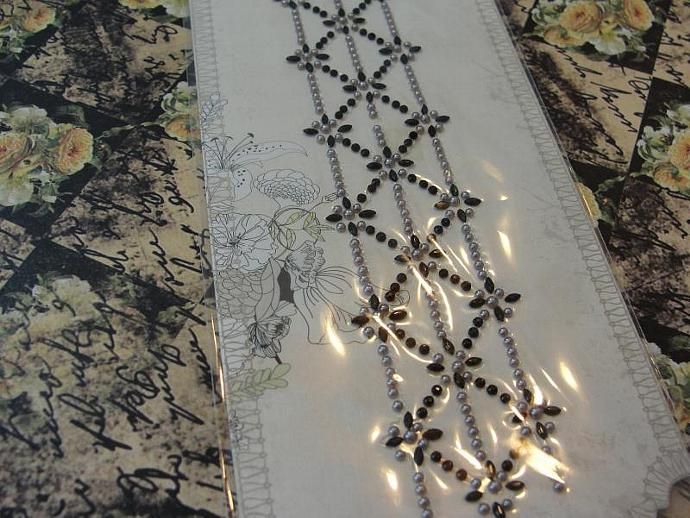 """NEW from CHA & Prima!  """"Romance Novel"""" Say it in Crystals Border"""