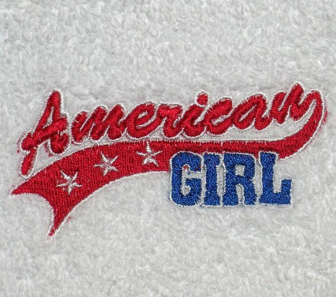 AMERICAN GIRL hand towel