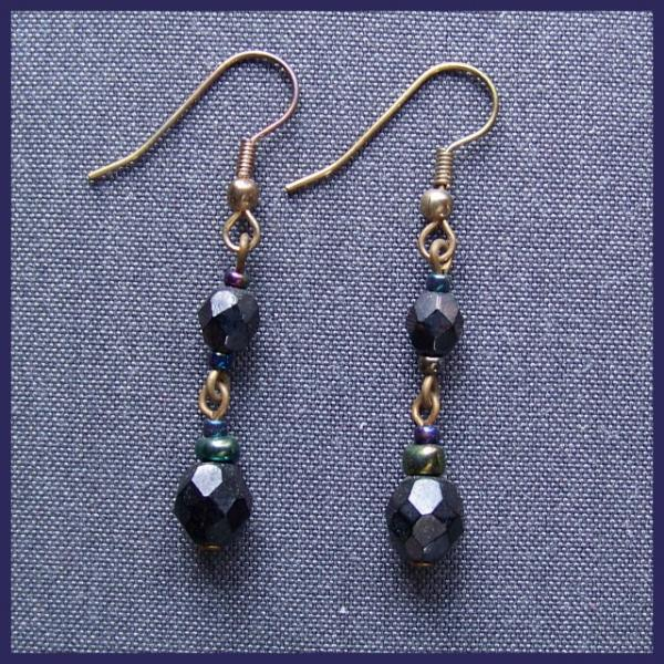 Facted Hematite Earrings