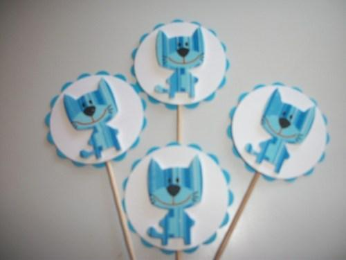 12ct Little Blue Critters Birthday Cupcake Topppers