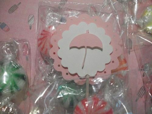 3D Pink Umbrella  girl  Baby shower party favor