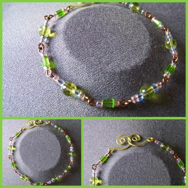 Peridot Pale Blue Bracelet
