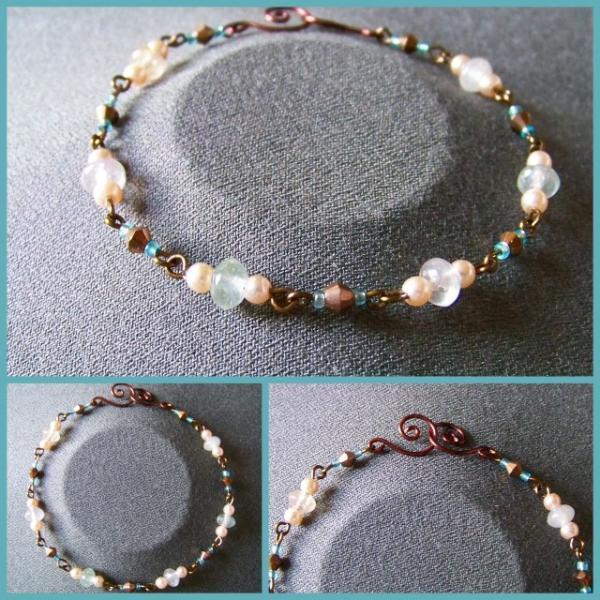 Seafoam Pearl Bracelet