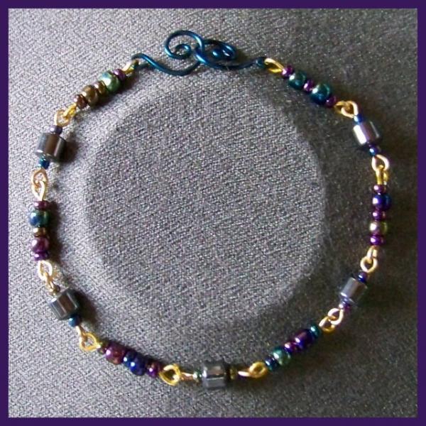 Hematite Barrel Bracelet