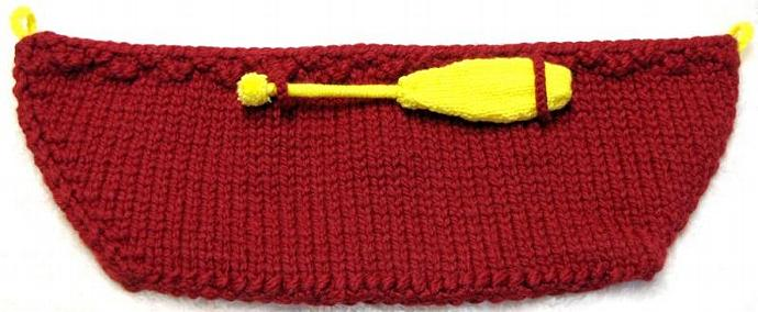 CANOE / PADDLE Photo Prop Knitting Pattern in 2 great sizes, sent PDF by E-mail