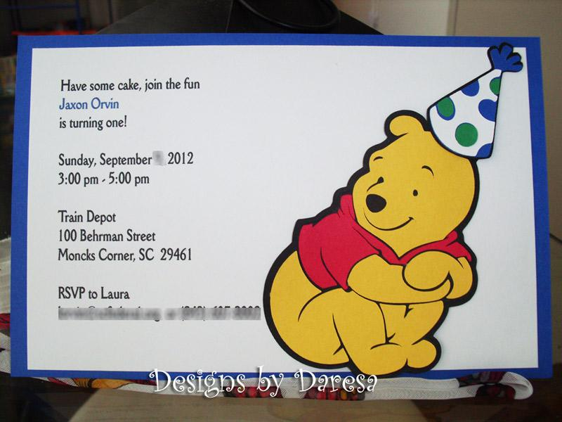 winnie the pooh birthday cards  set of  by designsbydaresa on, Birthday card