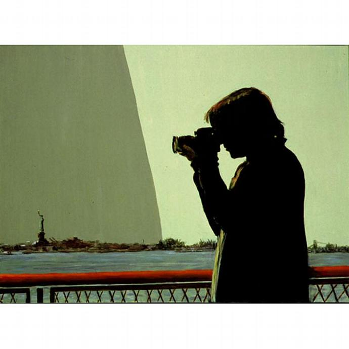 The Viewfinder II (New York City View With Figure)