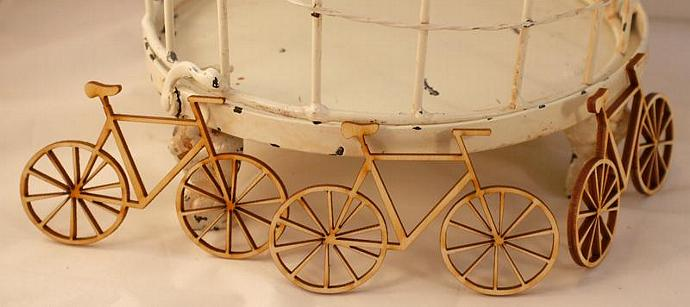 Wooden bicycles-3 pieces