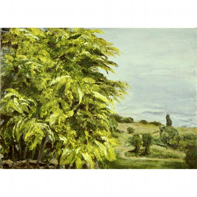 At San Donato (A Plein Air Landscape Painting)