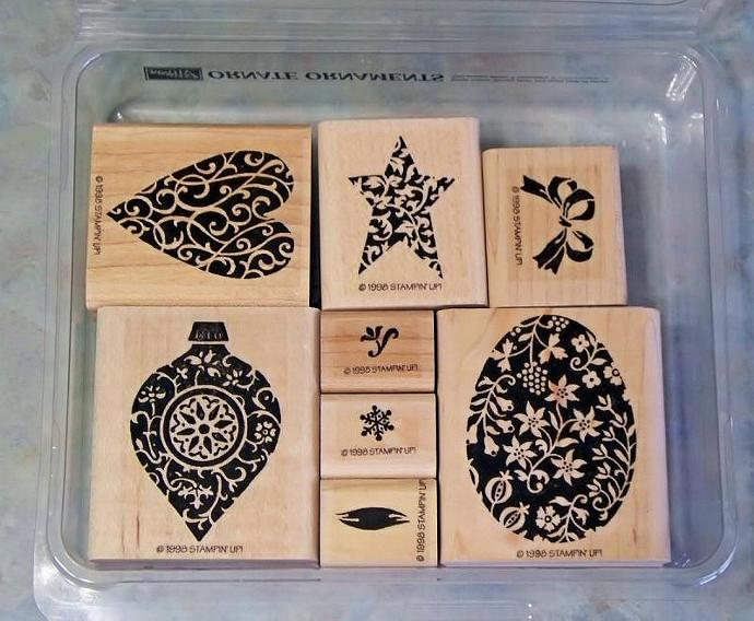 Stampin Up ORNATE ORNAMENTS, Rubber Stamp Set For Easter, Christmas or