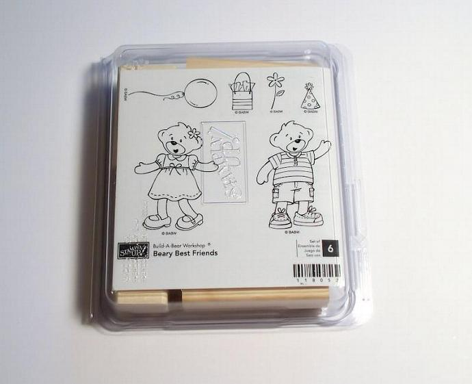 Stampin Up BEARY BEST FRIENDS Retired Rubber Stamp Set