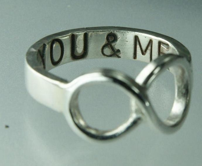 Infinity Love You & Me Symbol Ring